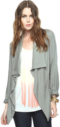 Forever 21 Pleat Pocket Open Cardigan