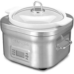De'Longhi DCP707 Slow Cooker, 5 Qt. Compact Stainless