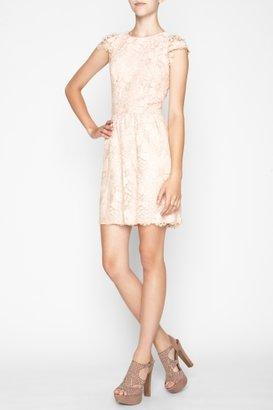 BCBGMAXAZRIA Bcbgeneration Lace Cutout-Back Dress