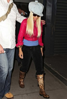 Dav Victoria Leopard Rain Boot as seen on Nicki Minaj