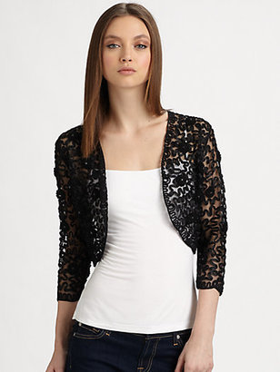 Harrison Morgan Ribbon Rosette Bolero