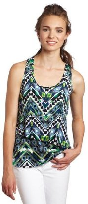 Amy Byer A. Byer Juniors Tiered Top With O-ring Back Design
