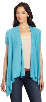 Chaus Women's Cap Sleeve High Low Sweater Cardigan