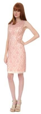 Kay Unger Lace Embroidered Dress