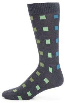 Marcoliani Crazy Square Pima Cotton Socks