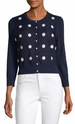 Karl Lagerfeld Paris Embroidered Dot Shrug