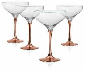 Artland Coppertino Four-Piece Cocktail Coupe Glass Set
