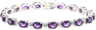 FINE JEWELRY Lab-Created Amethyst & Diamond-Accent Sterling Silver Bracelet $162.49 thestylecure.com