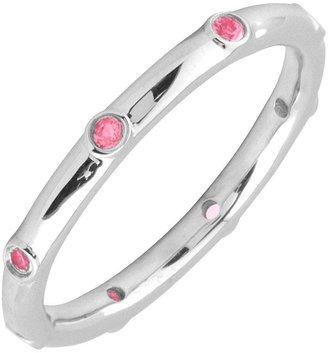 Simply Stacks Sterling Pink Tourmaline Multi-stone Stack Ring