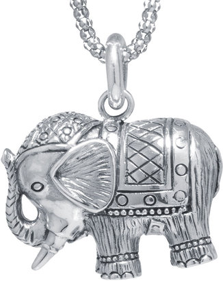 FINE JEWELRY Sterling Silver Elephant Pendant Necklace $312.48 thestylecure.com