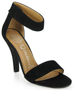 Jeffrey Campbell Hough - Suede Sandal in Black
