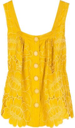 Catherine Malandrino Embroidered camisole top