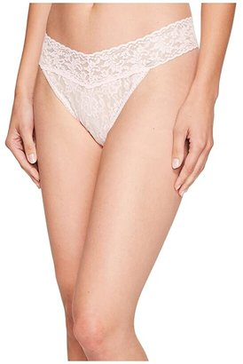 Hanky Panky Signature Lace Original Rise Thong (Bliss Pink) Women's Underwear