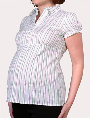 Motherhood Short Sleeve Smock Sleeve Maternity Shirt
