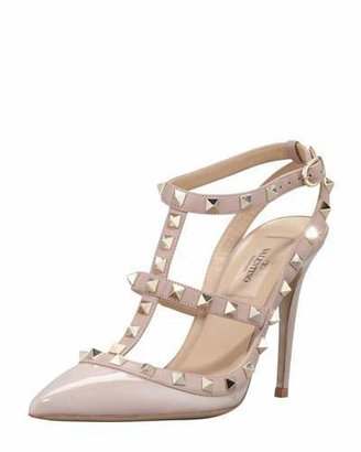 Valentino Rockstud Slingback 100mm Pump, Poudre $995 thestylecure.com
