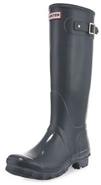 Hunter Tall Gloss Boot, Gray