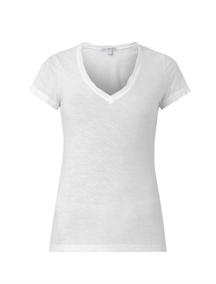 James Perse V-neck slub-cotton T-shirt