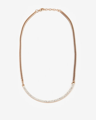 Vita Fede Crystalized Half Moon Necklace
