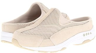 Easy Spirit Traveltime (Light Natural Suede/White) Women's Clog Shoes