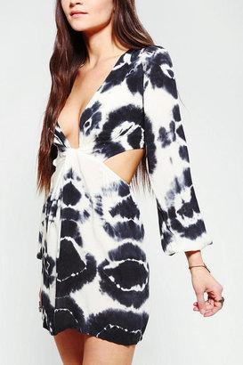 Blu Moon Deep-V Tie-Dye Dress