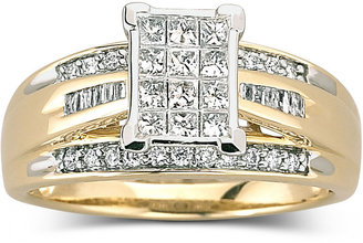 MODERN BRIDE 1/2 CT. T.W. Diamond Bridal Ring 10K Gold $1,375 thestylecure.com