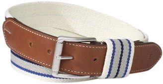 Façonnable Men's Woven Stripe Belt