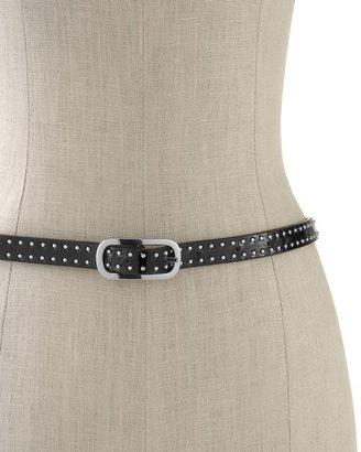 White House Black Market Reversible Studded Skinny Belt
