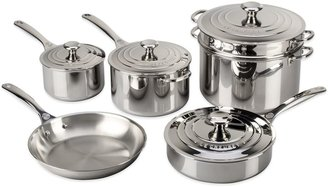 Le Creuset Tri-Ply Stainless Steel 10-Piece Cookware Set and Open Stock