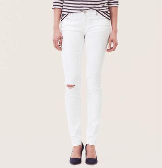 LOFT Modern Skinny Jeans in Destructed White