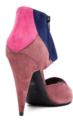 Pierre Hardy Suede Heels in Trico Pink