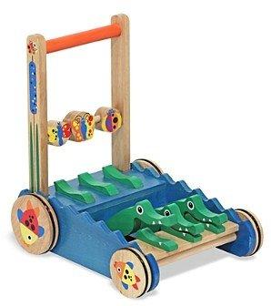 Melissa & Doug Chomp & Clack Alligator Push Toy - Ages 1+