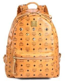 MCM Stark Sprinkle Stud Medium Coated Canvas Backpack