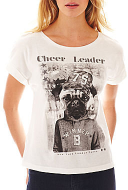 MNG by Mango Cheer Leader Pug Screen Tee