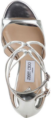 Jimmy Choo Ivette Evening Sandal Silver Leather