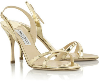 Jimmy Choo India mirrored-leather sandals