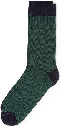 Topman Navy Herringbone Socks