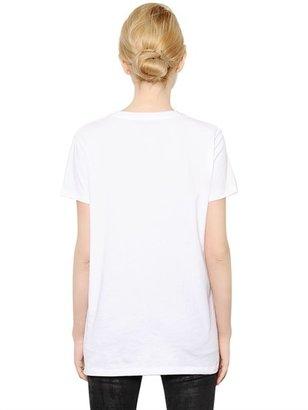 Karl Lagerfeld Heart Printed Cotton T-Shirt