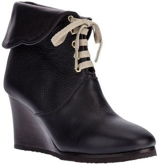 Chloé lace-up wedge boot