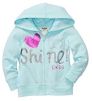 Osh Kosh Screenprint Fleece Hoodie - Girls 2t-5t