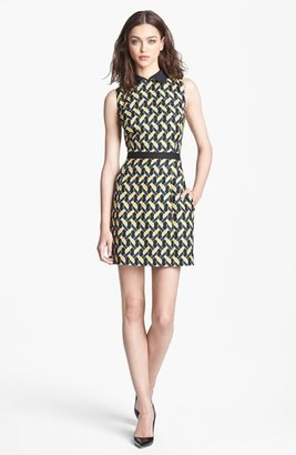 Nordstrom Miss Wu Abstract Chain Jacquard Dress Exclusive)