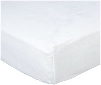 American Baby Company Heavenly Soft Chamois/Chenille Crib Sheet - White