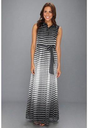 Vince Camuto Sleeveless Shirt Maxi Dress (Black) - Apparel