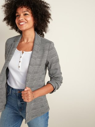 Old Navy Classic Glen Plaid Blazer for Women