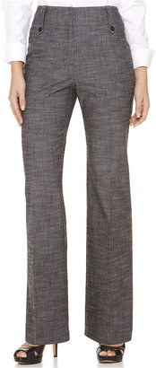 Amy Byer Pants, Textured Button Tab Trousers