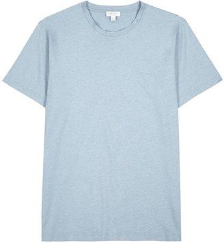 Sunspel Riviera Light Blue Cotton T-shirt