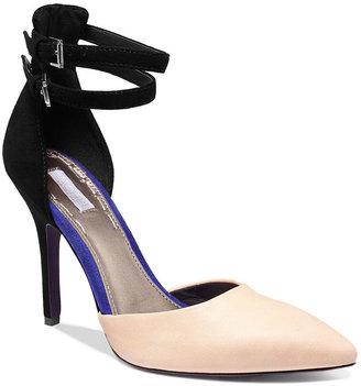 Rachel Roy Mawa Two Piece Ankle Strap Pumps