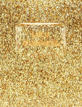 Lulu Guinness Gold Glitter Perspex Lips Clutch