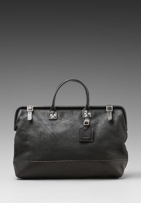 "Billykirk Leather 20"" Carryall in Black Milled/Black Eng Bridle"