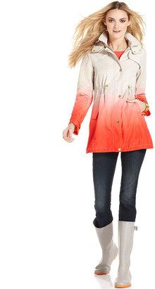 Steve Madden Jacket, Hooded Dip-Dye Ombre Anorak