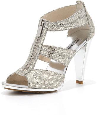MICHAEL Michael Kors Berkley Glittered T-Strap Sandal